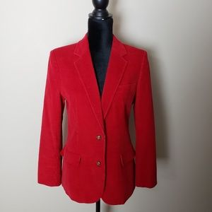 Compositions Red Corduroy Jacket Sz. 12